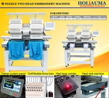 HOLIAUMA embroidery machine prices for home use 2 head computer embroidery machine