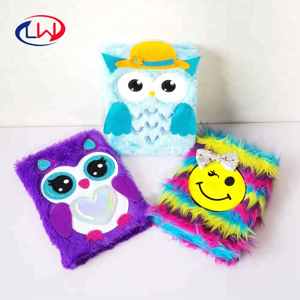 Factory direct Free sample A5 custom plush Notebook