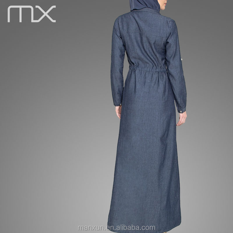 6536f63f10e4 muslim dress for middle east pakistani new style dresses denim long maxi  dress abaya islamic clothing