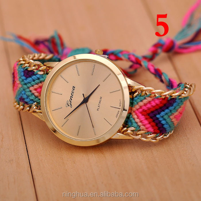 6colors Hot Selling Top Quality Watch Women Colorful Strap Korea ...