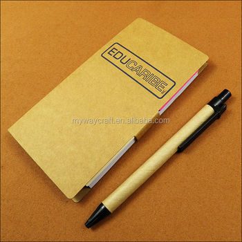Myway New design cheap custom office school writing notepad with pen