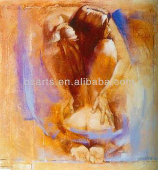 Arte Figurativa Nudo Loves Caldo Abbraccio Dipinti Ad Olio Su Tela