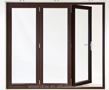 Brown UPVC Accordion Folding Doors,interior UPVC Folding Doors Prices,uPVC  Windows And Doors
