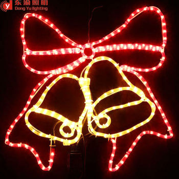 silhouette animated enhanced yellow red christmas bells light led motif 2d christmas ring bell lights