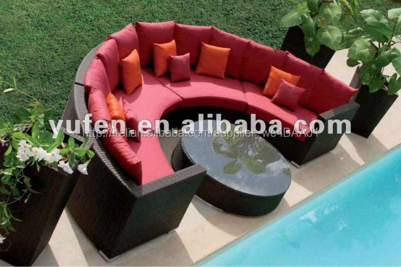 Divani Per Esterni Rattan : Arredi per esterni in rattan sintetico divano semicircolare rattan