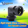 LEINUOER Electrical Right Angle union flexible hose fitting plastic elbow connector