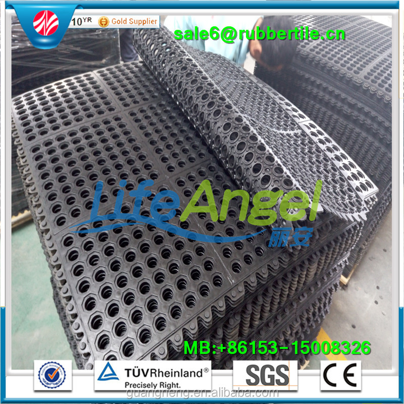 Anti Fatigue Hollow Design Interlocking Mats,Non Slip Kitchen Rubber Mat