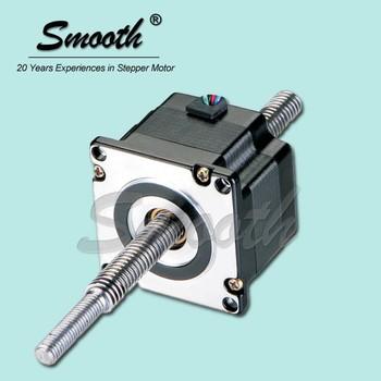 Nema 34 non captive linear stepping motor screw drive for Threaded shaft stepper motor