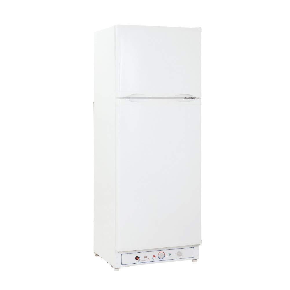 SMETA 110V/Gas Propane Refrigerator Fridge Up Freezer,9.4 cu ft,White