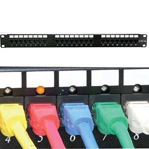 InstallerParts Cat 5E 110 Patch Panel 48 Port Rackmount w/LED Indicator