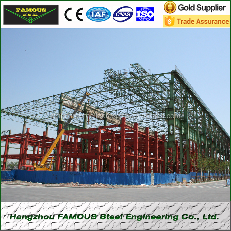 Dubai Wholesale Market Q345 / Q235 Portal Frame Steel Structure ...