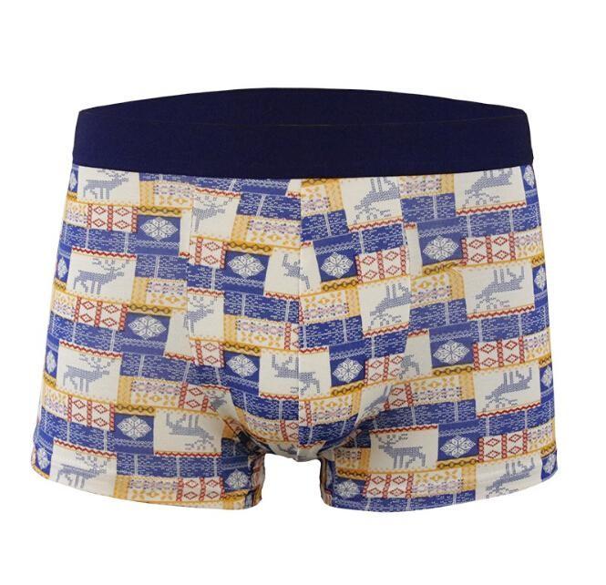 2019 กางเกงในสี่มุมหลวมและสะดวกสบายเซ็กซี่ชุดชั้นในบุรุษ