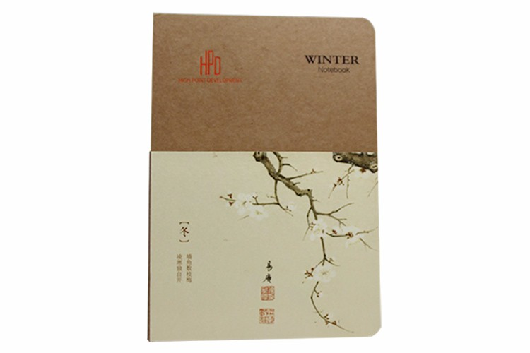 Stock!! Four season good quality blank recycled paper journal school notebook