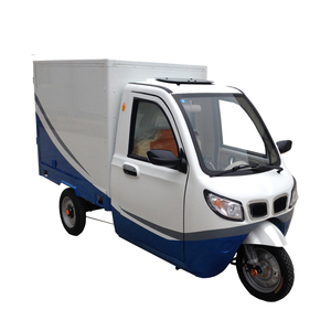 van cargo electric tricycle with closed cabin in 60v 1000w power