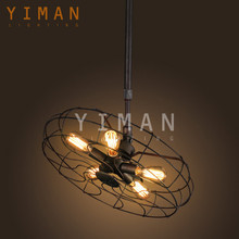 European Contemporary industrial Ceiling Light UL lamp italian chandelier Antique Fan Pendant Light cheap decorative from china