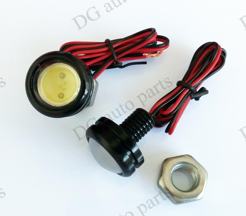 Get Quotations · 2pcs/lot 3W Eagle Eye Waterproof Eagle Eyes Car Indicator  External Lights DC12V Daytime Running