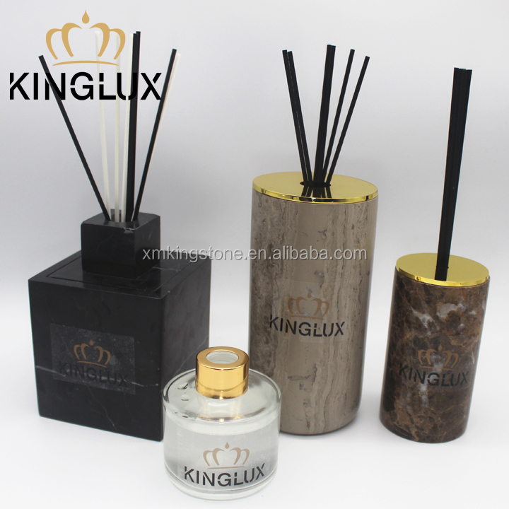 wholesale home fragrance reed diffuser marble holder