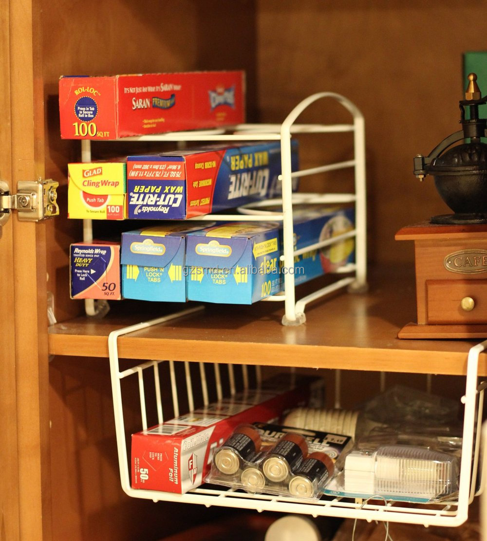 Exceptional Under Shelf Wire Rack Basket Kitchen Organizer   White   Easy To Install  (12 1