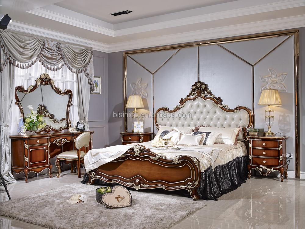 UAE Style Luxury Antique Bed, Luxury Bedroom Furniture Set, Solid Wood  Bedroom Furniture - UAE Style Luxury Antique Bed, Luxury Bedroom Furniture Set, Solid