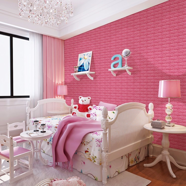 Fashionable 3d brick wallpaper 3d wall stickers home decor easy to install