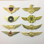New hot custom airline pilot wings/custom metal pilot wings pin badge/magnetic pilot wings badge lapel pin
