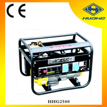 Chinese generator manufacture, 2000w 50/60Hz 5.5hp portable home use gas generator