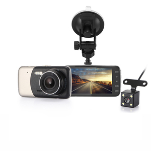 Mini 4 inch Car DVR Dual Lens Video Recorder Parking Car Camera Full HD 1080P WDR Night Vision 170 Degree Driving Recorder