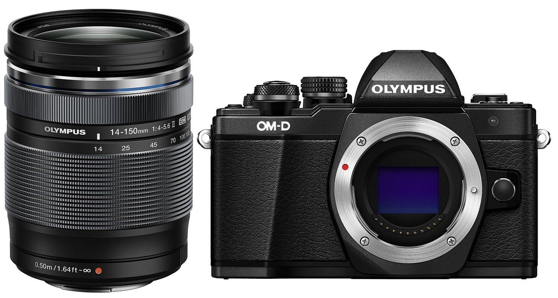 Olympus OM-D E-M10 Mark II Mirrorless Digital Camera (Black) V207050BU000 + Olympus 14-150mm f/4.0-5.6 II Lens for Micro Four Thirds Cameras Kit V316020BU000 Camera Bundle