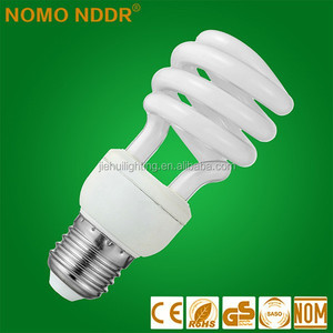 China Stock price 220v 15w Half Spiral Energy Saving Light saver lamp bulb