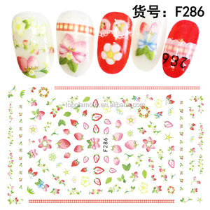 F285-294 Fruit Slices Fruit Nail Art Slice Decorations Design with Self-adhesive Tip Stickers