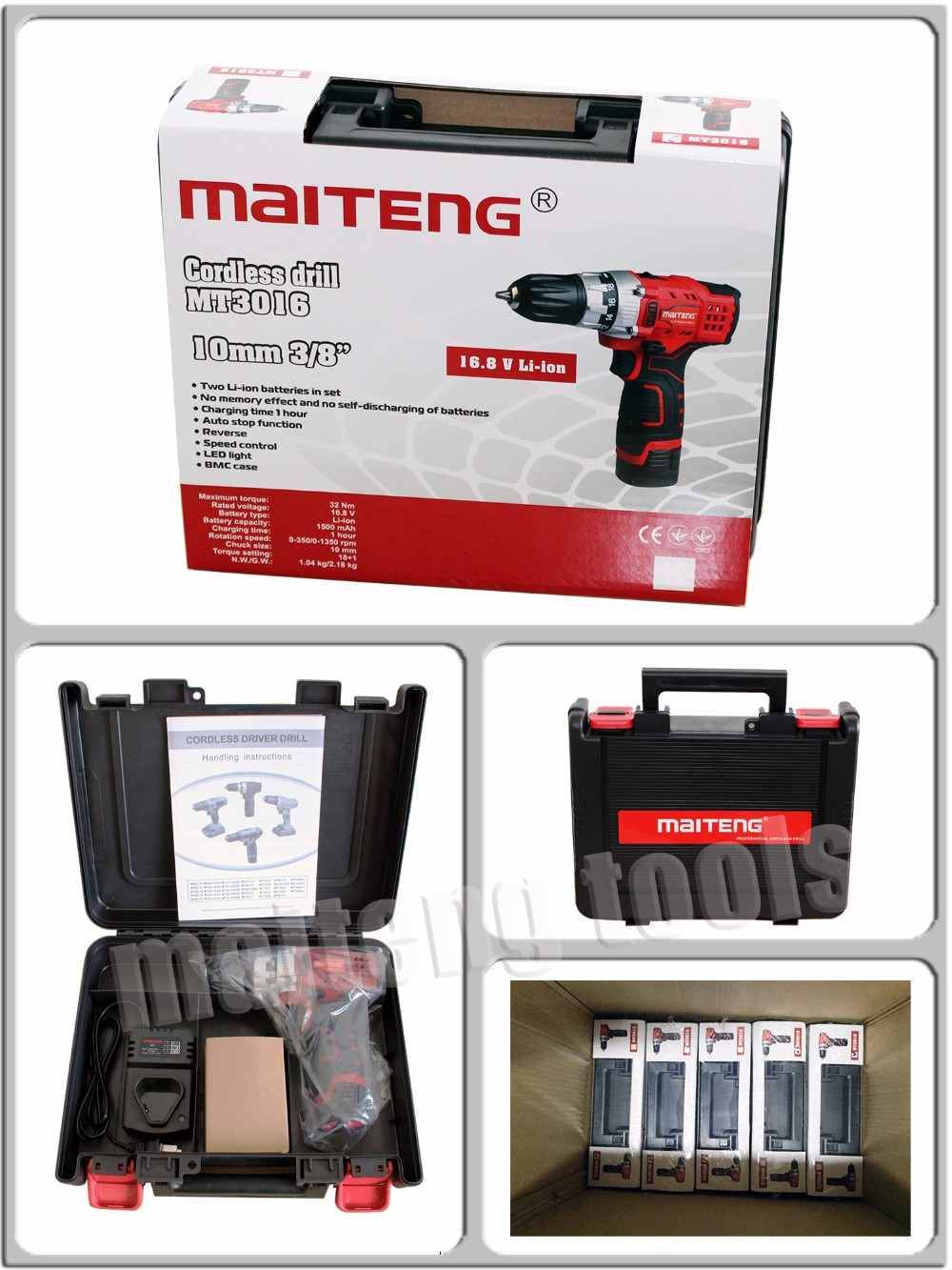 16V Power Craft Cordless Drill Kit with Rechargable Battery, View 16V Power  Craft Drill, MAITENG Product Details from Nantong Maiteng Tools Co , Ltd