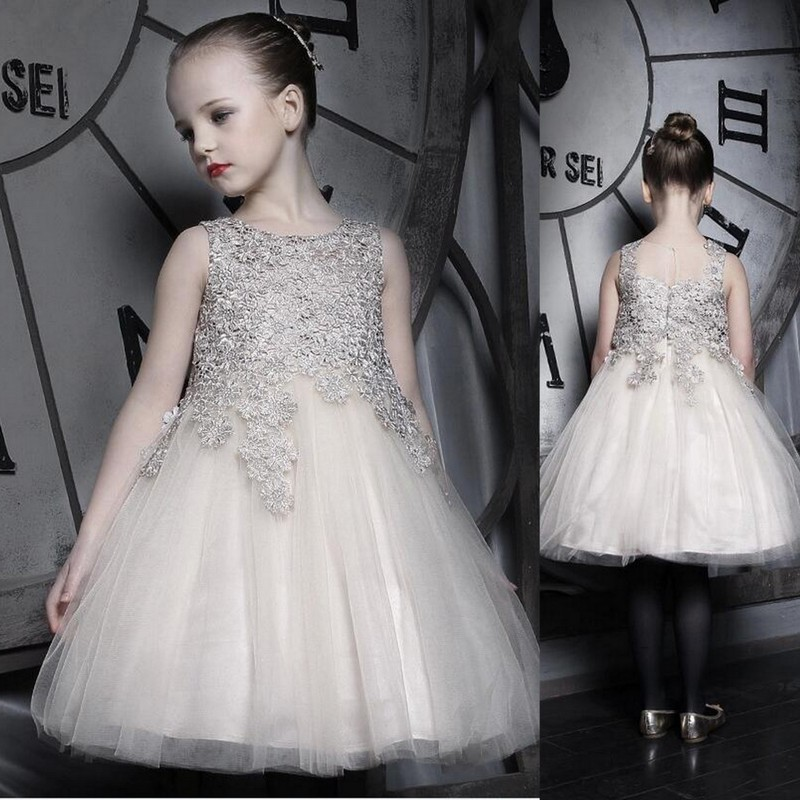 NX1643 High Quality Princess Dress Lace Flower Girl Dress 2016