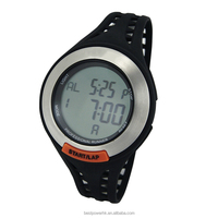 Powerful running style wristwatch PlastIc strap and case sports watch