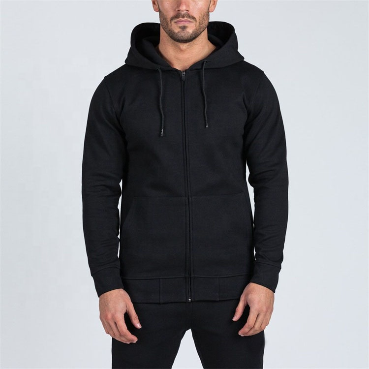 Oversized Fleece Mens Pullover 100% Cotton Zip Up Hoodies