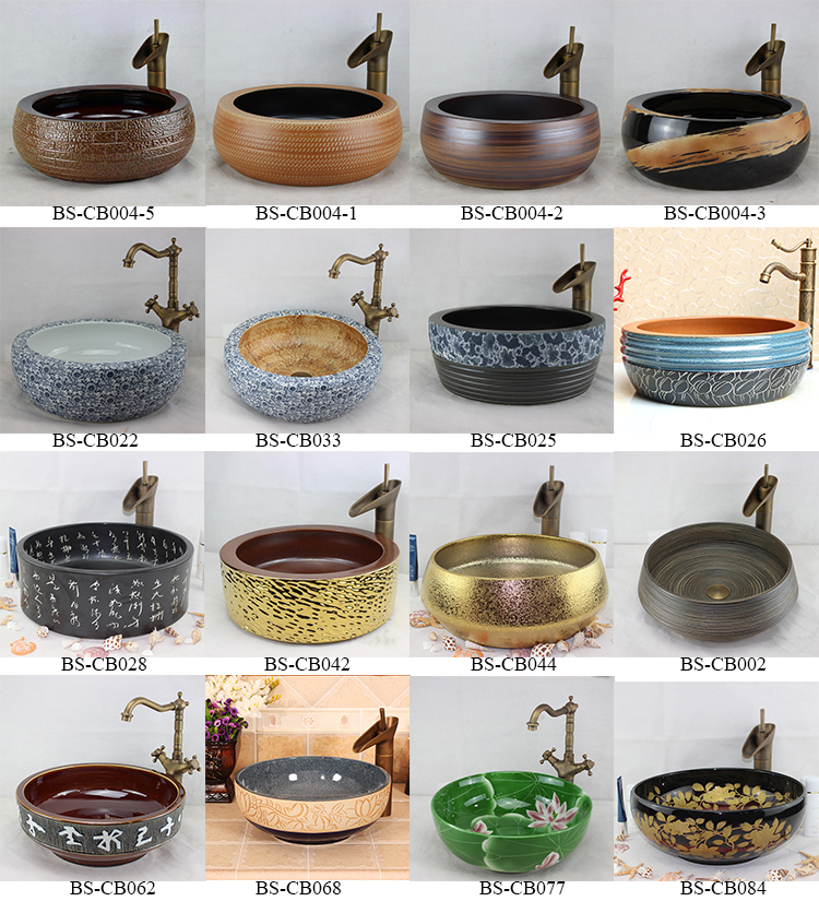Waist drum shape silver plating ceramic material different wash basin types  for sale in guangzhou. Waist Drum Shape Silver Plating Ceramic Material Different Wash