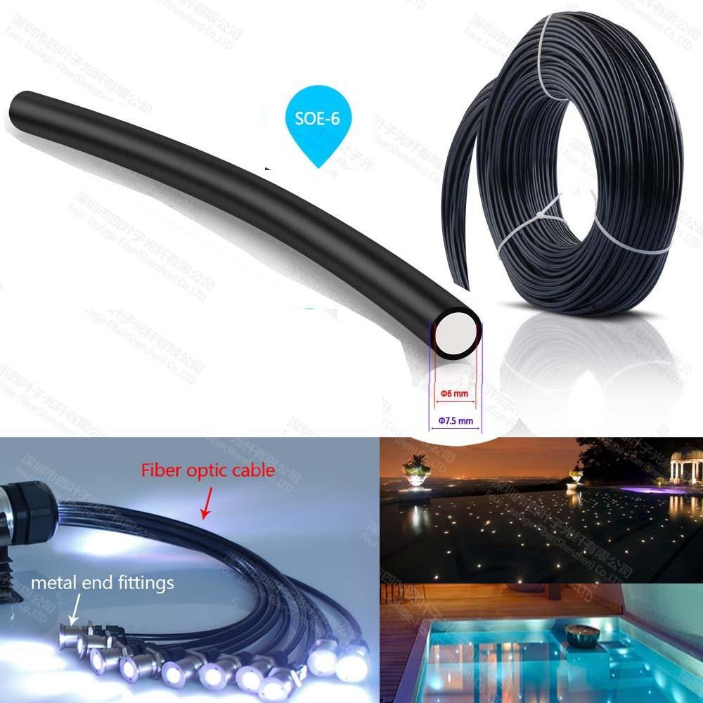 6mm Meter Price Optical Fiber Optical Fibre Cable Led Underground ...
