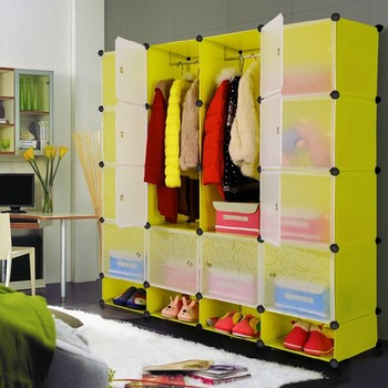 high quality plastic stackable storage cubes shelves in green