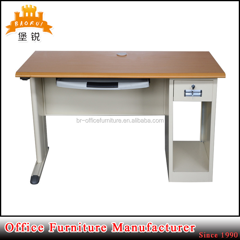 BAS-048 school office teacher table/ director office computer table design with wooden MDF panel