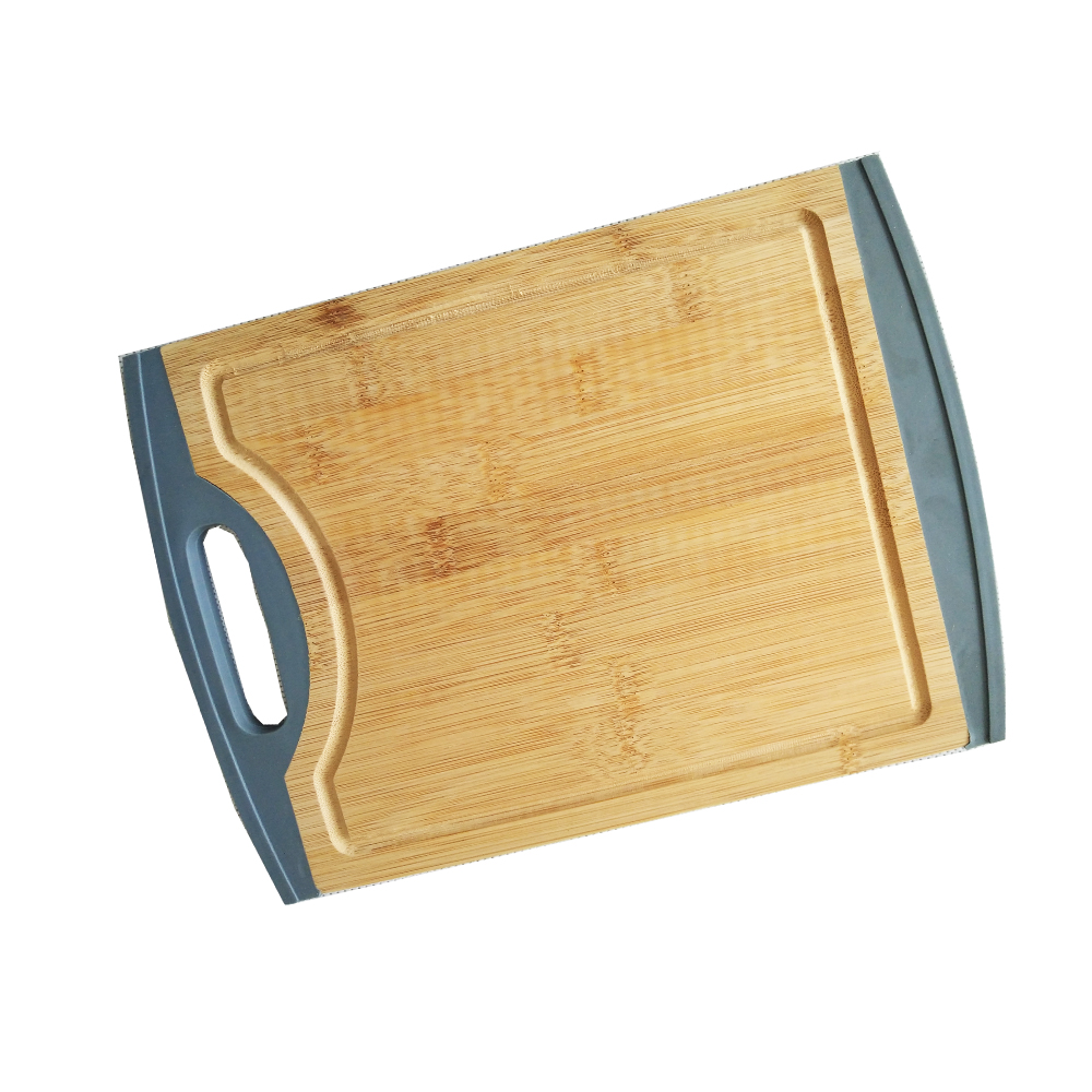 Cheap Natural Bamboo Cutting Board with Colorful Silicone Best- selling Bamboo Products