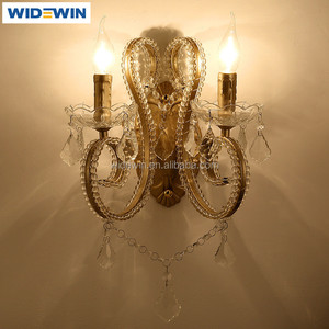 Hotel Wall Crystal Wall Lamp Candle Light Wall Mounted Chandelier Lights