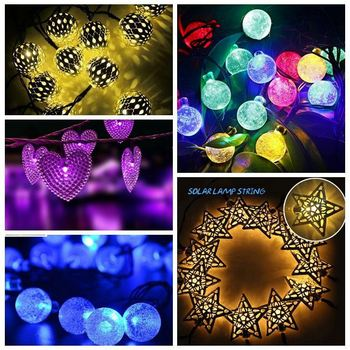 10m 38LED 3D christmas decoration solar lantern string light