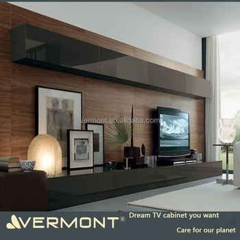 2018 Vermont European Modern Wall Units Wooden Hanging Tv Cabinet Tv Stands  Furniture