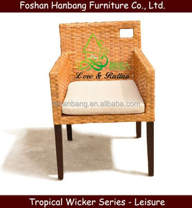 Home Sunroom Indoor Java Vintage Bamboo Wicker Natural rattan chairs