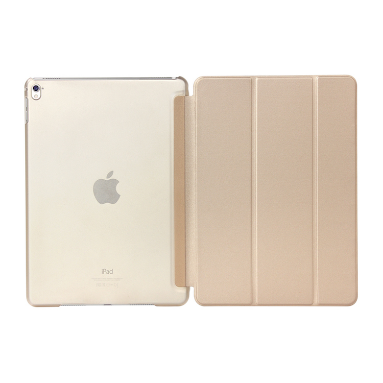 Smart Case Cover [Synthetic Leather] Translucent Frosted Back Magnetic Cover with Auto Sleep/Wake Function for <strong>iPad</strong>