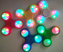 Wholesale price full color LED light fidget hand spinner with anti stress toys spinner fidget