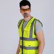 High Visibility Safety Reflective Vest/Justry 8814/ANSI/ISEA Standard /S-5XL/ Yellow/Lime,Orange/Red,Green,Pink/Reflective Vest