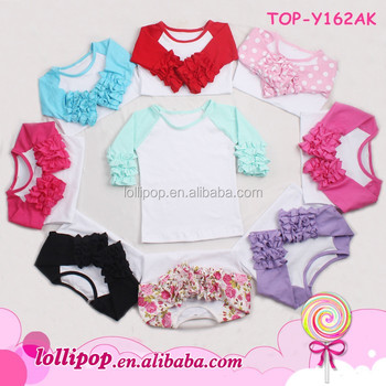 8747f5d46 Ruffle Raglan Vendor Baby Girls Toddler T Shirts Kids Icing Ruffle Shirt  Tops Boutique Raglan Sleeve
