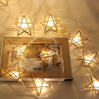 Starry String Lights Simple Star 60 Leds String Lights Battery Operated Led Copper Wire Starry