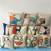 Animation pillow and other body wholesale custom outdoor cotton woven cushion