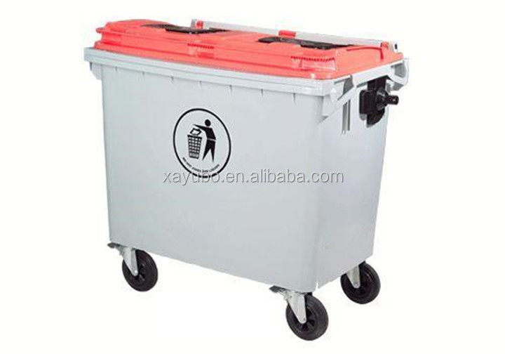 1100 Liter Outdoor Plastic Waste Container